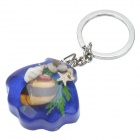 Undersea World Shell Acrylic Stainless Steel Keychain - Hyacinthine