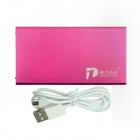 ZHILIPINYANG PY-8108 10000mAh Dual USB Mobile Power Source for IPHONE / MP3 / MP4 / PSP - Deep Pink