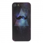 Stylish Colored Drawing Beard Pattern Protective Plastic Back Case for IPHONE 5 / 5S - Black