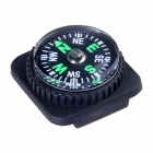 Outdoor Survival Mini Compass w/ PU Leather Watch Attachment Design - Black (10 PCS)