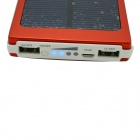 "Universal Dual-USB ""10000mAh"" Dual-USB Solar Energy Powered Power Source Bank - Red + White"