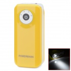 "BP Fisheye ""5600mAh"" Mobile Power Source w/ Stroboscopic LED for IPHONE / Samsung / HTC - Yellow"