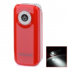 "BP Fisheye ""5600mAh"" Mobile Power Source w/ Stroboscopic LED Light for IPHONE / Samsung / HTC - Red"
