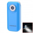 "BP Fisheye ""5600mAh"" Mobile Power Source w/ Stroboscopic LED Light for IPHONE / Samsung / HTC - Blue"