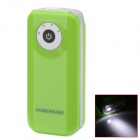 "BP Fisheye ""5600mAh"" Mobile Power Source w/ Stroboscopic LED Light for IPHONE / Samsung / HTC -Green"
