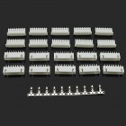 BONATECH XH2.54 8-Pin Connectors / Plug + Straight Needle Seat + Terminals - White (10 PCS)