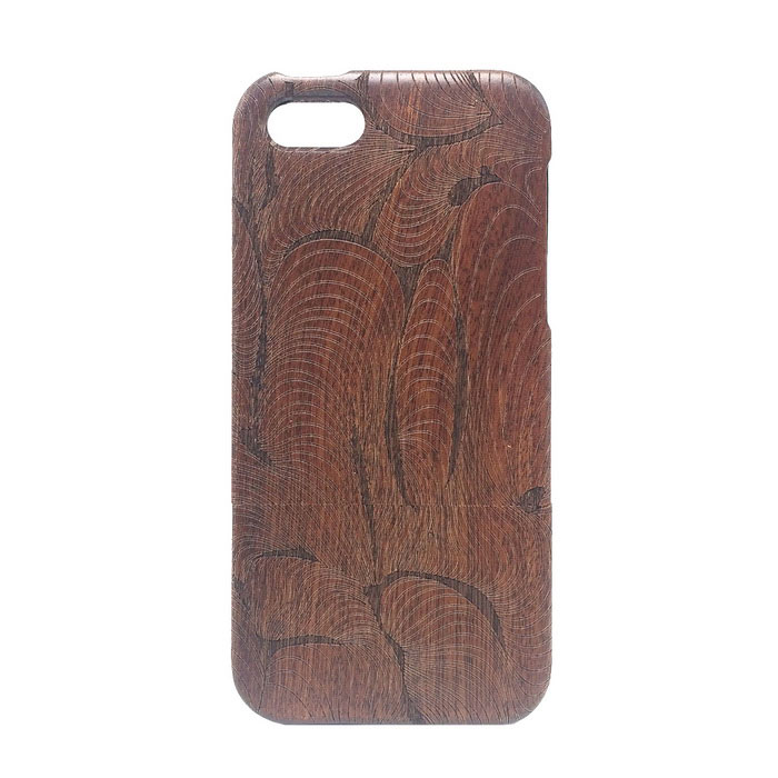 Flashback Pattern Detachable Protective Wooden Back Case for IPHONE 5C - Wood Color + Black