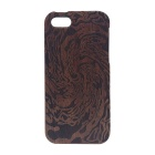 Tornado Pattern Detachable Protective Wooden Back Case for IPHONE 5C - Dark Brown