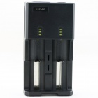 iTaSee 2-Slot 18650 NiMH Lithium Battery Charger w/ 5V USB Output - Black (US Plugs / 110~240)