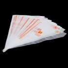 HONGHAI Disposable DIY Cake Decoration Pastry Bag w/ Measure - White (100 PCS / Size-S)