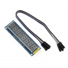 Jtron 8-Digit LED Seven-Segment Display Module - Deep Blue