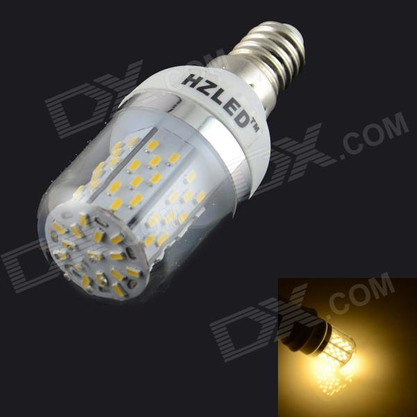 HZLED E14 5W 936lm 3000K 78-SMD 3014 LED Warm White Bulb - White + Silver (AC 85~265V) e14 5w 110lm 3000k 8 smd 5630 led warm white light lamp bulb ac 85 265v