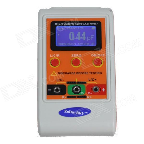 ZnDiy-BRY M4070 2.3'' LCD AutoRanging LCR Meter - White + Yellow hf 1 8 lcd 3 digit thermocouple
