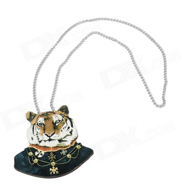 Tiger rétro modèle Wweater Collier Necklace - noir + blanc