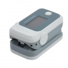 Finger Pulse Oximeter - White + Gray (2 x AAA,not included)