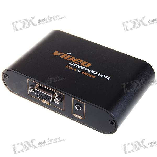 VGA to 1080P HDMI 1.3 Converter Box (100~240V AC) face detection usb camera 640 x 480 vga 0 3mp ov7725 cmos plug and play free driver webcam with software wide dynamic function