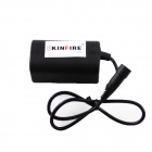 Kinfire K40 impermeable 8.4V 4400mAh 2-en-Serie 2-in-Parallel 4 x 18650 Battery Pack - Negro