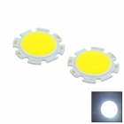 WaLangTing 5W 450lm 6500K COB LED White Round Light Sheets (15~18V / 2 PCS)