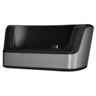 TEMEI Portable Cell Phone Charging Docking Station for HTC ONE MAX - Black + Silver Grey