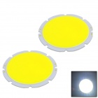 WaLangTing Round 20W 1800lm 6500K COB LED White Light Source Module - Yellow (30~36V / 2 PCS)
