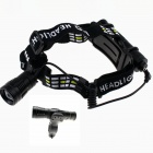 ZHISHUNJIA SS01 Cree XM-L2 U2 1000lm 5-Mode White Zooming Headlamp - Black (1 x 18650)