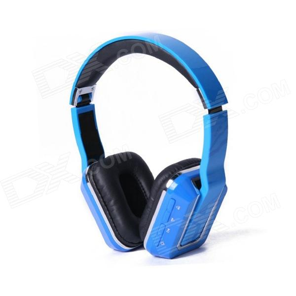OYK OK-103 Wireless Headband Bluetooth V3.0 Stereo Headphone - Blue - DXBluetooth Headphones<br>Color Blue Brand OYK Model OK-103 Material ABS + plastic Quantity 1 Piece Shade Of Color Blue Ear Coupling Headband Bluetooth Version V3.0 Operating Range 10 meters Radio Tuner No Microphone No Supports Music Yes Connects Two Phones Simultaneously No Applicable Products IPHONE 5IPHONE 4IPHONE 4SIPHONE 3GIPODIPADOthersIPHONE 5SIPHONE 5S Built-in Battery Capacity 185 mAh Battery Type Li-polymer battery Talk Time 10 Hour Music Play Time 8 hours Standby Time 100 Hour Plug Specifications OthersUSB power Packing List 1 x Headphone 1 x USB charge cable (120cm) 1 x Chinese / English User manual 1 x 3.5mm audio cable (20cm)<br>