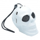 CHEERLINK KL-01 Creative Fearful Skull Style Hi-Fi Mini Speaker w/ USB / TF - White + Black