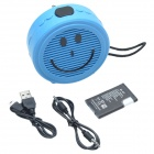IS-05 New Smile Style Hi-Fi Mini Speaker w/ FM / USB / TF - Blue
