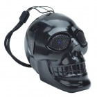 CHEERLINK KL-01 Creative Skull Head Style Media Player Speaker w/ TF / USB / FM - Black