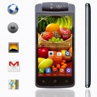 "KICCY T908 Free Rotation Camera Dual-core Android 4.2 WCDMA Phone w/ 4.5"" QHD, 8MP, 4GB ROM - Black"