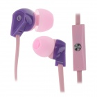 ELMCOEI V2 Fashionable In-Ear Earphones w/ Microphone - Pink + Purple (3.5mm Plug / 125cm-Cable)