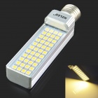 HZLED E27 9W 700lm 3000K 44-SMD 5050 LED Bombilla Blanca Caliente - Blanco + Plata (AC 85 ~ 265V)
