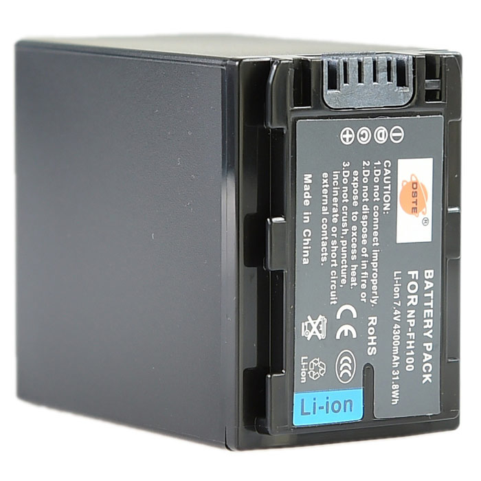 DSTE FH100 7.4V 4300mAh батарея для Sony HDR-HC7, HDR-UX5E, HDR-UX7, HDR-HC3 + More