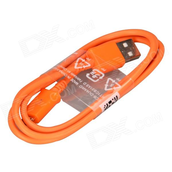 Micro USB Male to USB 2.0 Male Data Sync / Charging Cable for Samsung Galaxy S4 / S3 + More - Orange pzcd pz 48 firefly micro usb male to usb 2 0 male data sync charging led visible cable orange