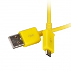 Micro USB Male to USB 2.0 Male Data Sync / Charging Cable for Samsung Galaxy S4 / S3 + More - Yellow