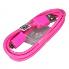 Micro USB Male to USB 2.0 Male Data Sync / Charging Cable for Samsung Galaxy S4 + More -Deep Pink