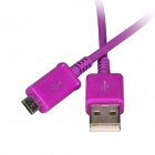 Micro USB Male to USB 2.0 Male Data Sync / Charging Cable for Samsung Galaxy S4 / S3 + More - Purple