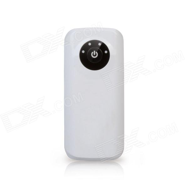 Ultra-portable 5200mAh USB Power Bank External Battery Packs Charger w/ LED Flashlight - White portable 6000mah power bank w flashlight for mobile tablet pc more pink white