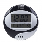"E100002 3885 6.2"" + 5.8"" Dual-LCD All-age Calendar Desk Clock - Black + Gray (2 x AA)"
