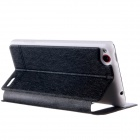 KALAIDENG ICELAND Series Protective PU Leather + PC Case Cover Stand for NUBIA Z5S MINI- Black