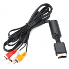 Replacement Composite Video+Audio AV-Out Cable for PS2 (1.85M-Length)