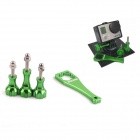 PANNOVO G-89-G Knob SET Camera Mount Bolt Screw for Gopro Hero 4/ 2/3/3+/SJ4000 - Green