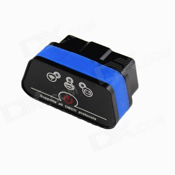 Vgate New Super Mini iCar2 Vehicle Wi-Fi OBD-II Code Diagnostic Tool / Clearer - Black + Blue