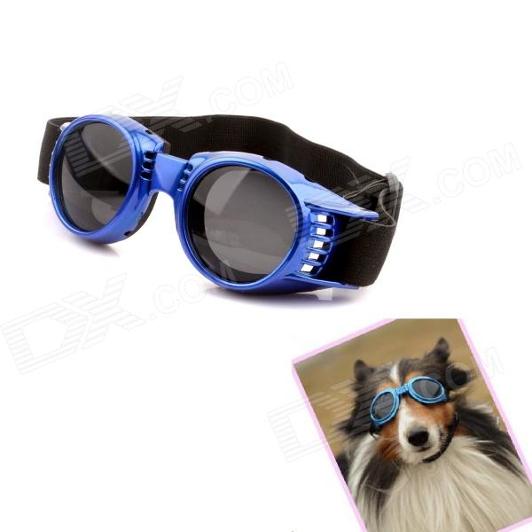 Hateli Pet-24-B Headband Regulated Pet Dog Outdoor Eye Protection Goggles Glasses - Blue