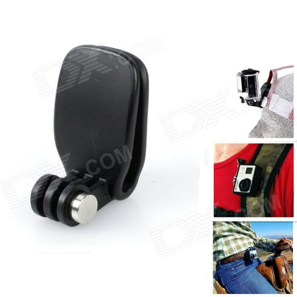 J027-1 Selfie Monopod Clip Mount for GoPro Hero / SJ4000 - BlackMounting Accessories<br>Form ColorBlackBrandJUSTONEModelJ027-1MaterialPlastic + steelQuantity1 DX.PCM.Model.AttributeModel.UnitTypeOthers,Head Quickclip / Backpack MountRetractableNoScrew SizeGopro AdapterMax.Load500 DX.PCM.Model.AttributeModel.UnitShade Of ColorBlackCompatible ModelsOthers,Gopro Hero 4 / 2 / 3 / 3+ / SJ4000Packing List1 x Mount;<br>