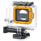 Waterproof Case w/ Individual Aluminum Alloy Strap Lens Ring for GoPro Hero 3+ / 3 - Golden Ring