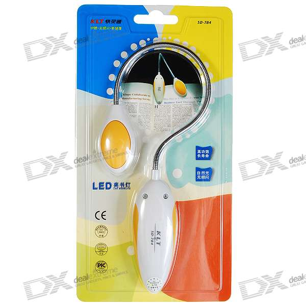 Clip-On Flexible LED Reading Light - Color Assorted (2*CR2032 included)