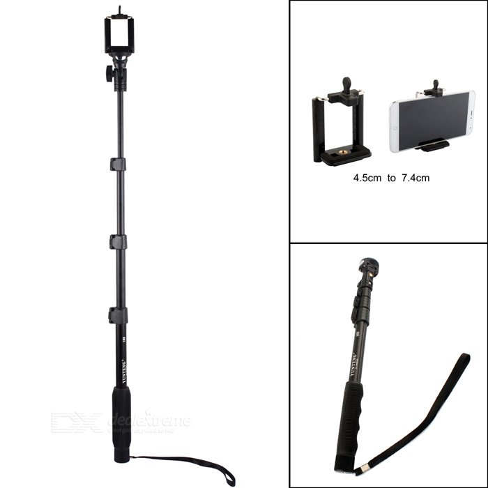 YunTeng 4-Section Retractable Handheld Monopod for Universal Cameras / Phone / Mirror / SJ4000 pannovo 4 section retractable handheld pole monopod for gopro hero 4 2 3 3 sj4000 black