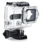 Waterproof Case w/ Individual Aluminum Alloy Strap Lens Ring for GoPro Hero 3+/3 - Silver Ring