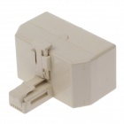 RJ11 1-to-3 Male to Female Splitter Coupler Connector Adapter - Beige